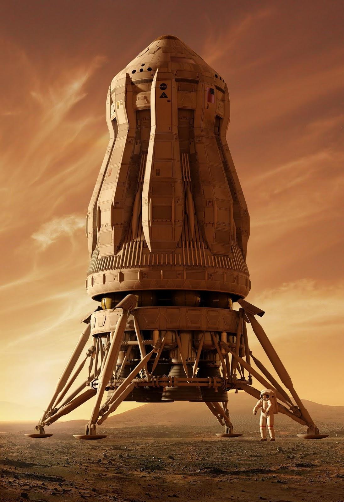 MAV - concept art for The Martian by Steve Burg