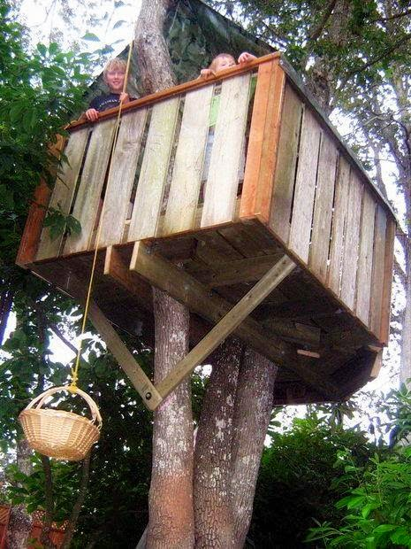 Treehouse as a playhouse