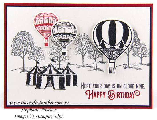 #thecraftythinker, Lift Me Up, Carousel Birthday, Lovely As A Tree, Stampin' Up! Australia Demonstrator, Stephanie Fischer, Sydney NSW, #crazycraftersbloghop,