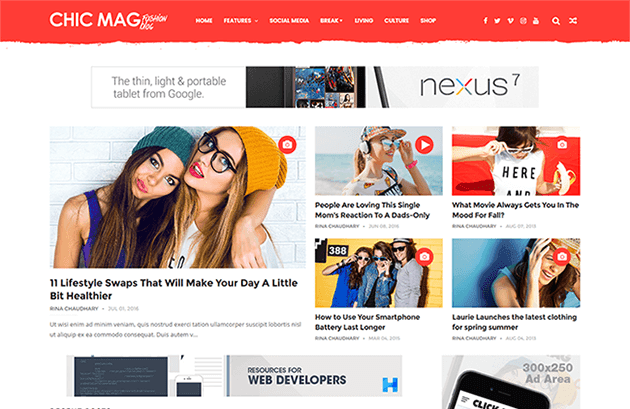 ChicMag Fashion & Lifestyle Personal Blogger Template