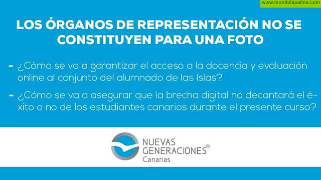 Nuevas Generaciones Canarias exige la convocatoria del Consejo de Estudiantes de Estudios Superiores de Canarias
