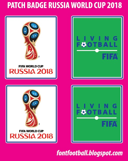 FONT FOOTBALL: Patch Badge Russia 2018 Fifa World Cup & Fifa