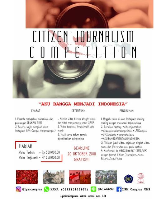 Contest Citizen Journalism 2018 UMS