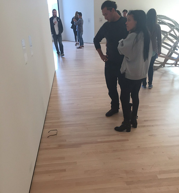 Someone Put Glasses On Museum Floor And Visitors Thought It Was Art