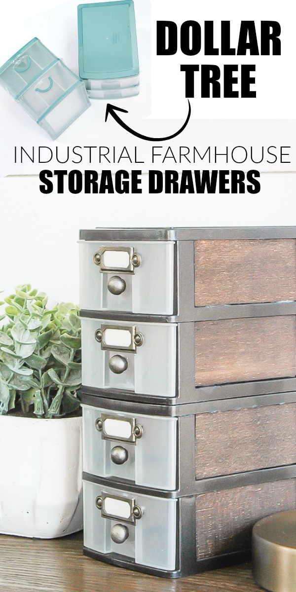 Industrial farmhouse dollar tree storage makeover