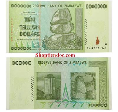 10 nghìn tỷ Zimbabwe