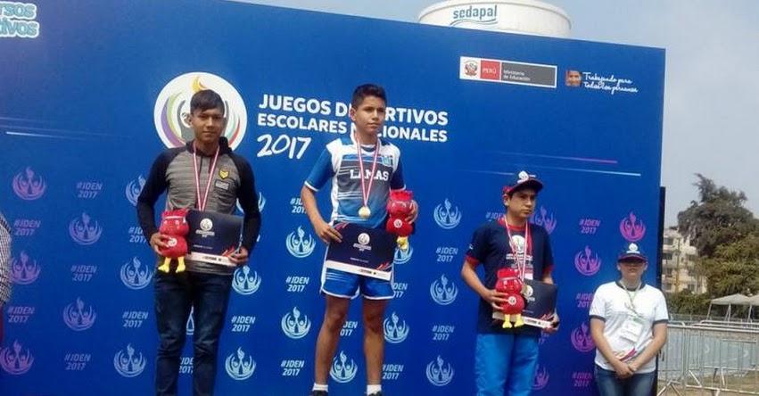 Premian con medalla de oro a estudiante de Lamas - Juegos Deportivos Escolares Nacionales 2017
