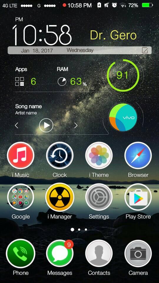 Vivo Y51 iOS 11 Theme