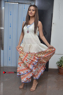 Telugu Actress Anu Emmanuel New Stills in Beautiful White Long Dress  0071.JPG