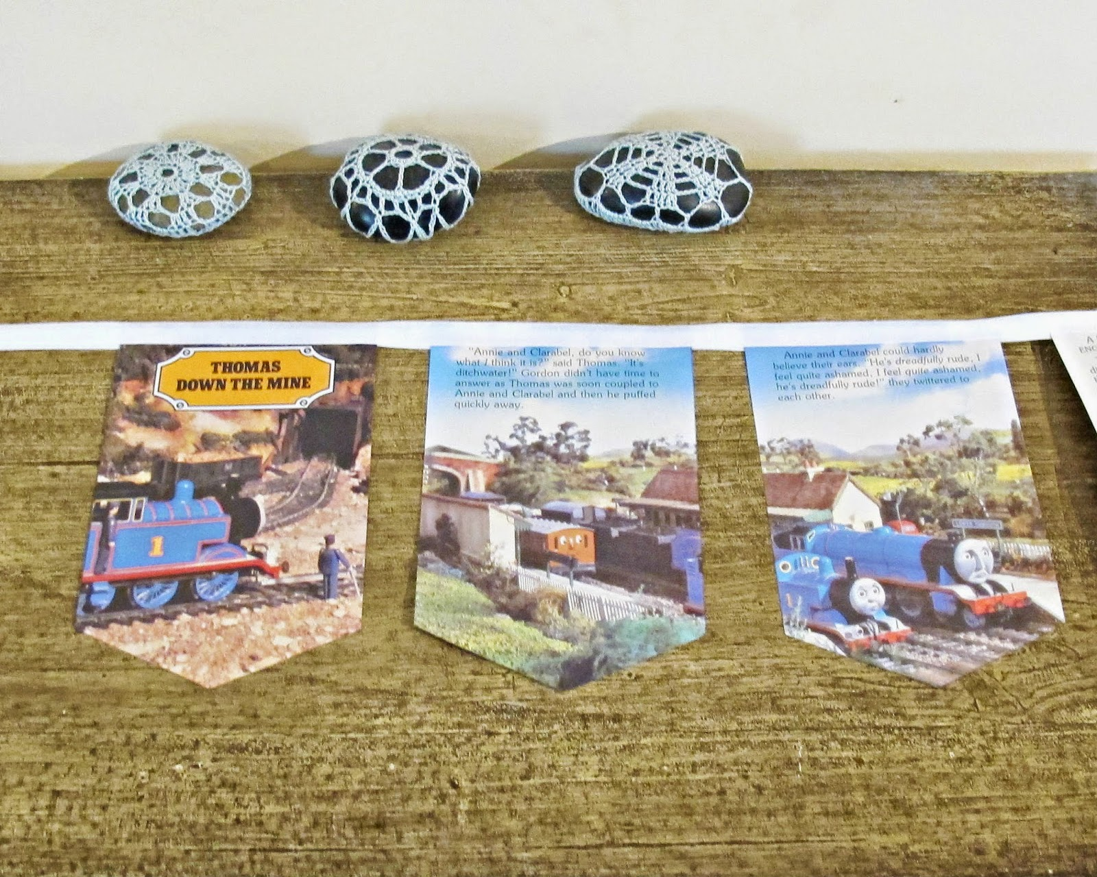 image thomas the tank engine bunting domum vindemia thomas down the mine trains boys children etsy madeit for sale