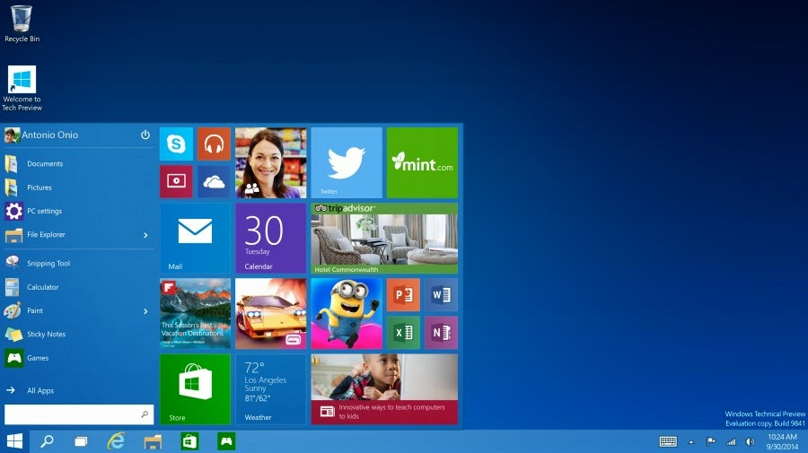 Start Menu Windows 10
