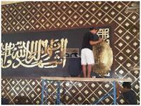 kerajinan kaligrafi kuningan termegah
