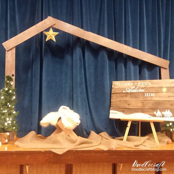 Diy Build A Wood Manger For Nativity, How To Build A Manger For Outdoors