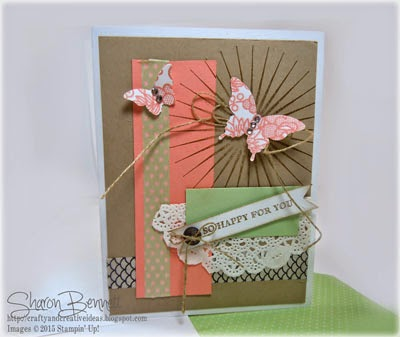 Kinda Eclectic stamp Set & Simply Wonderful Stamp Setfor Front of Card and Matching Envelope