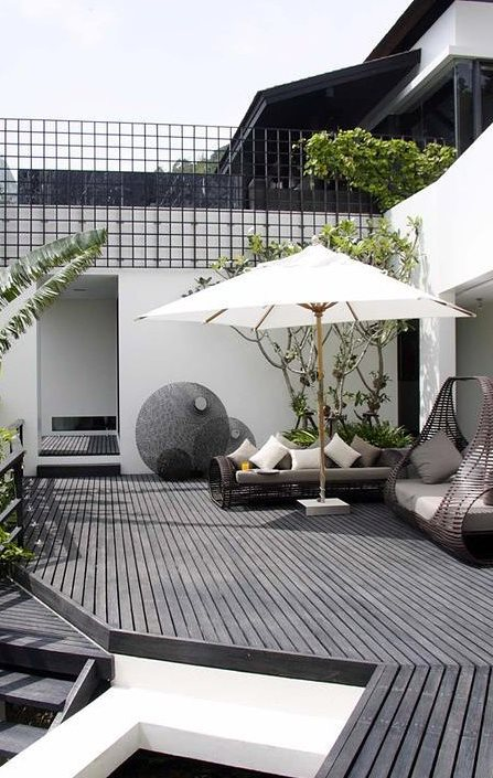 inspiring terrace decoration