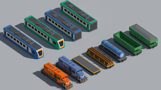 SimplePoly Vehicles Low Poly Models Assets