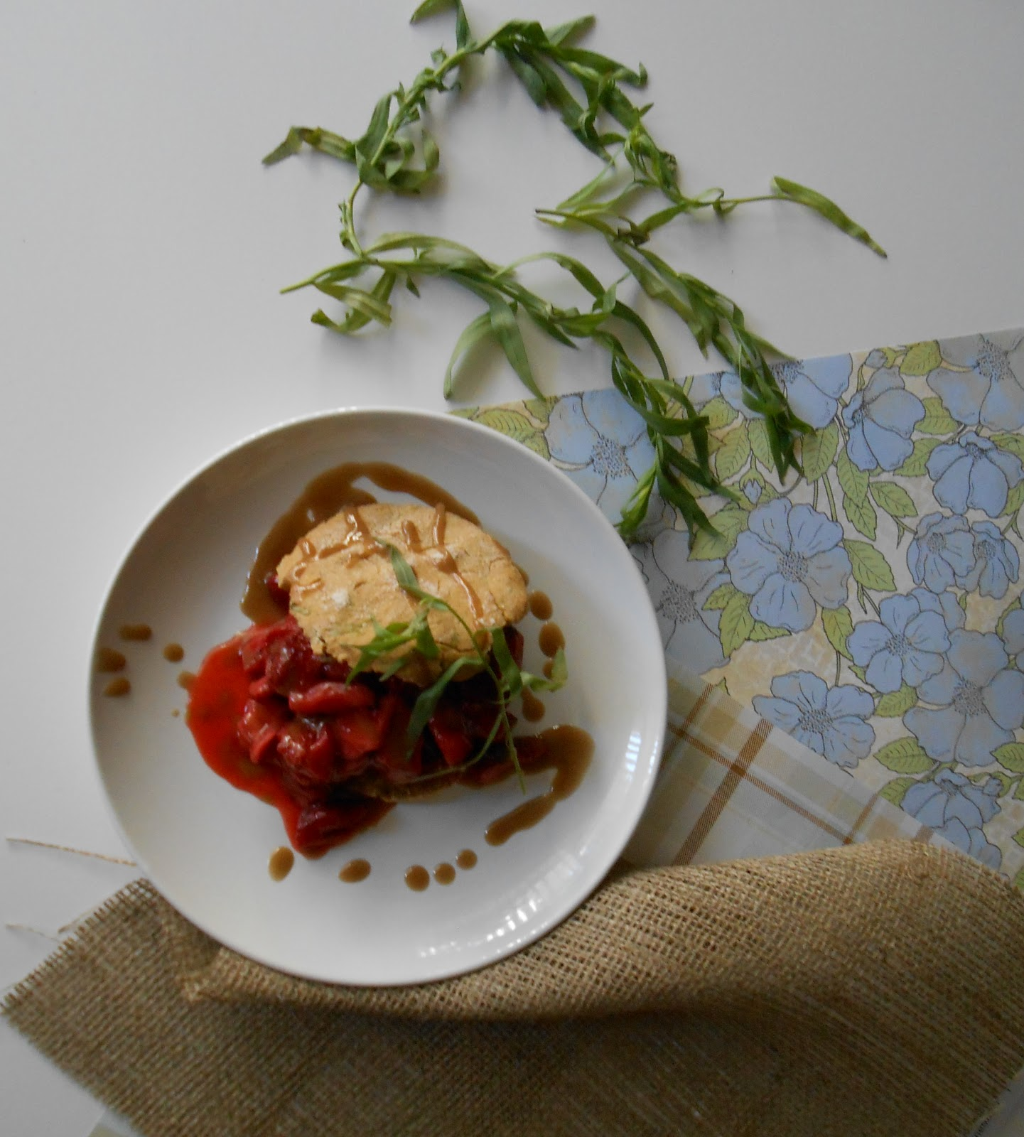 Roasted Strawberry Shortcake w/ Tarragon Biscuits - Flora ...