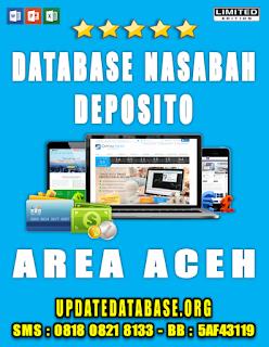 Jual Database Nasabah Deposito Aceh