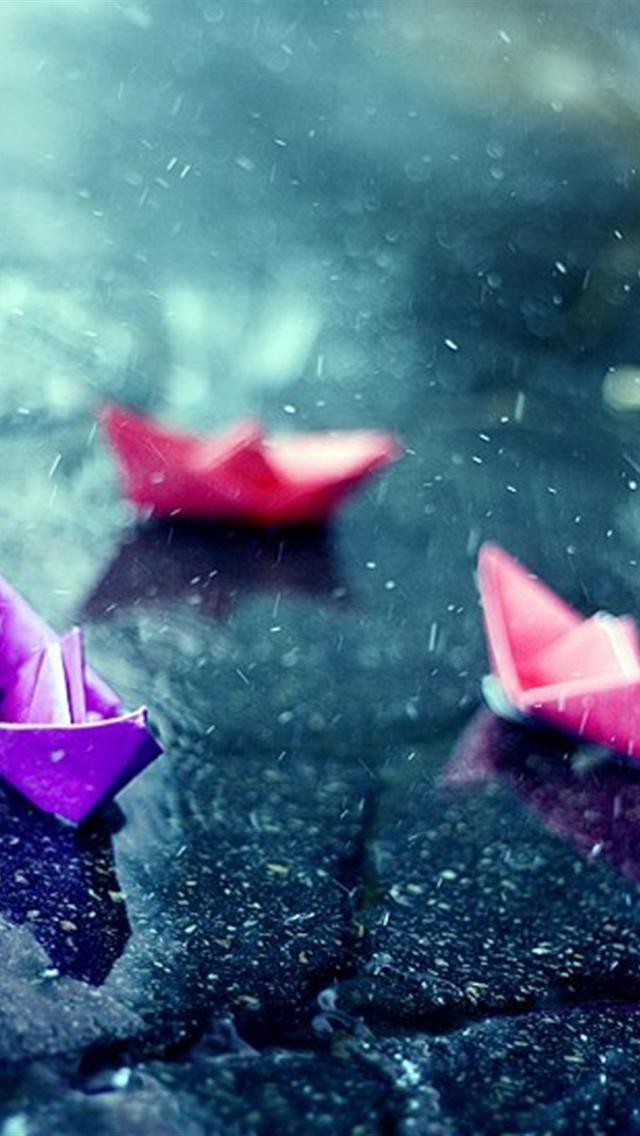 Pink Apple Wallpaper Iphone Iphone 5 Wallpapers Hd Cute Raining Day Iphone 5 Wallpapers