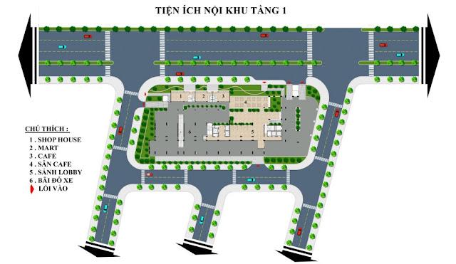Mặt bằng tổng thể tổ hợp căn hộ cao cấp Sơn Trà Ocean View Đà Nẵng