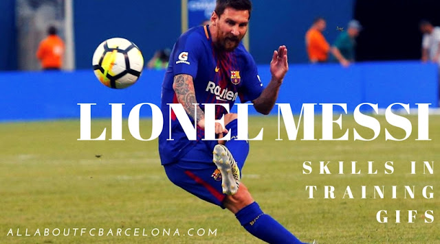 Lionel Messi showcasing skill in Training