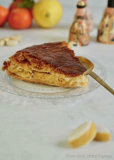 frangipane , galette des rois maison , recette facile , amandes , orange