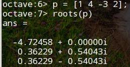 Математика за компьютером: Octave  Решение уравнений