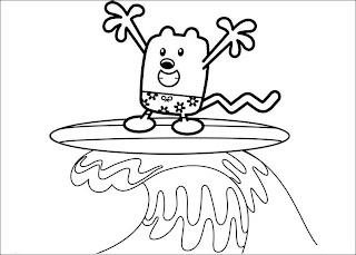 Krafty Kidz Center: Wow Wow Wubbzy coloring pages