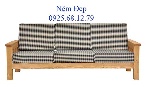 bọc nệm ghế sofa gỗ 015