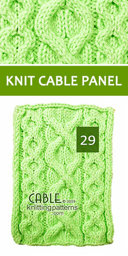 Knitted Cable Panel Pattern 29