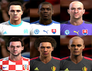 Faces: Jan Mucha, Javier Manquillo, Karim Guede, kompany, Marcelo Brozovic, Witsel, Pes 2013