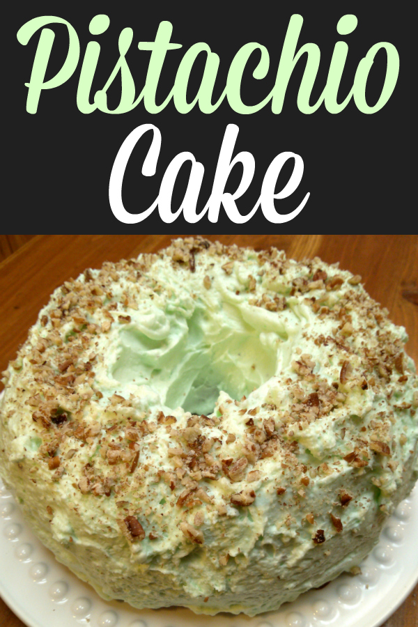 Pistachio Cake | Also called Watergate Cake, this moist cake recipe uses pistachio pudding in the cake and in the frosting. This is a perfect dessert for Easter, St. Patrick's Day and Christmas!