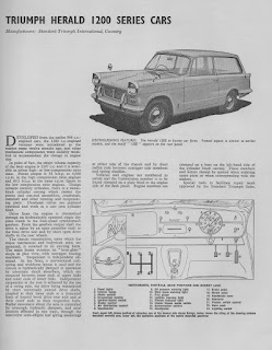 Triumph Herald 1200 series cars - Motor Trder 1963 front page