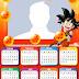 Calendario 2019 de Dragon Ball Z para Imprimir Gratis.