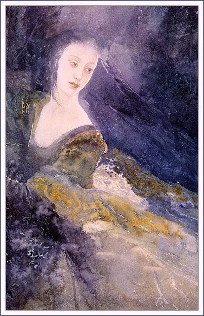 Εικονογράφηση της Λούθιεν από τον Alan Lee, από τον Άρχοντα των Δαχτυλιδιών