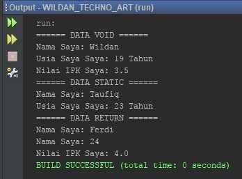 Penggunaan Parameter pada Method Static, Void, Return