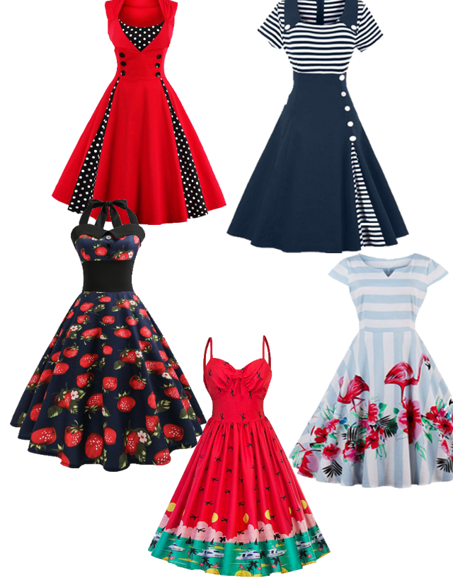 Wishlist: Vestidos retrôs da Rosegal