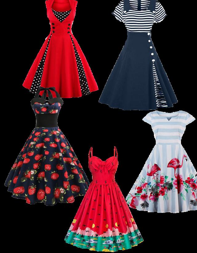 Wishlist: Vestidos retrôs da Rosegal