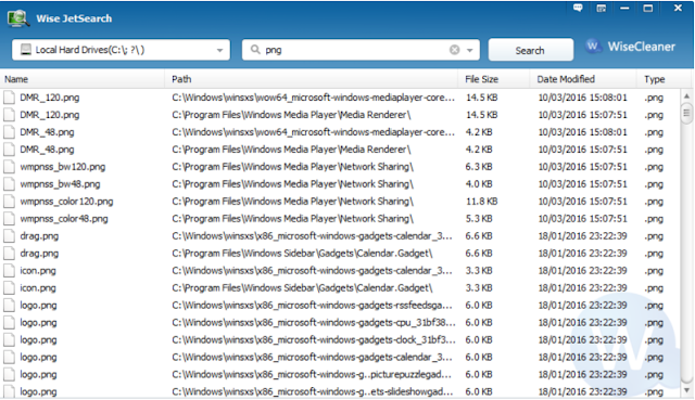 تحميل برنامج البحث عن الملفات للكمبيوتر Wise JetSearch