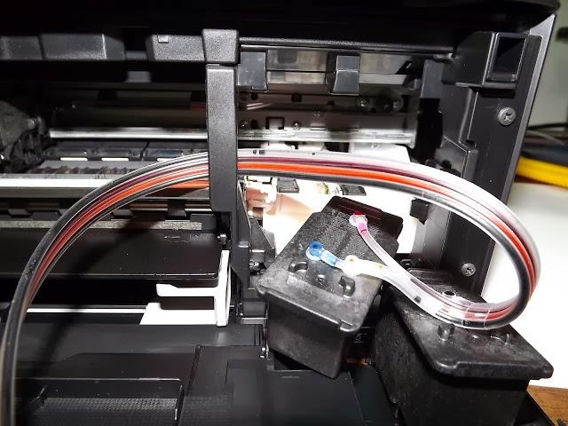 Sistema de tinta en impresora de inyección Canon