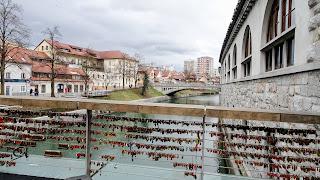 Ljubliana has a lock bridge