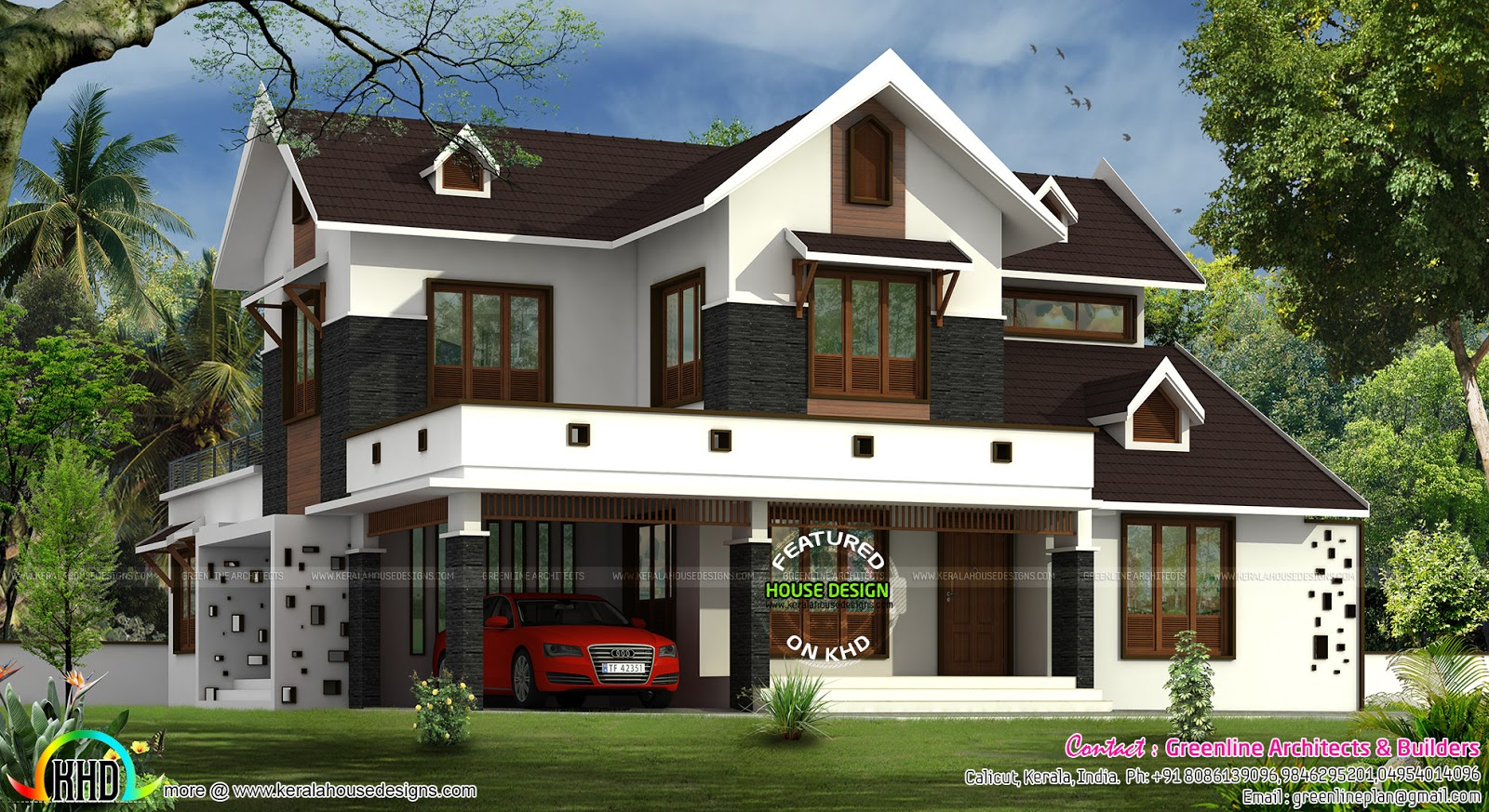 Cute Modern Home With Dormer Windows Kerala Home Design And Floor Plans 8000 Houses