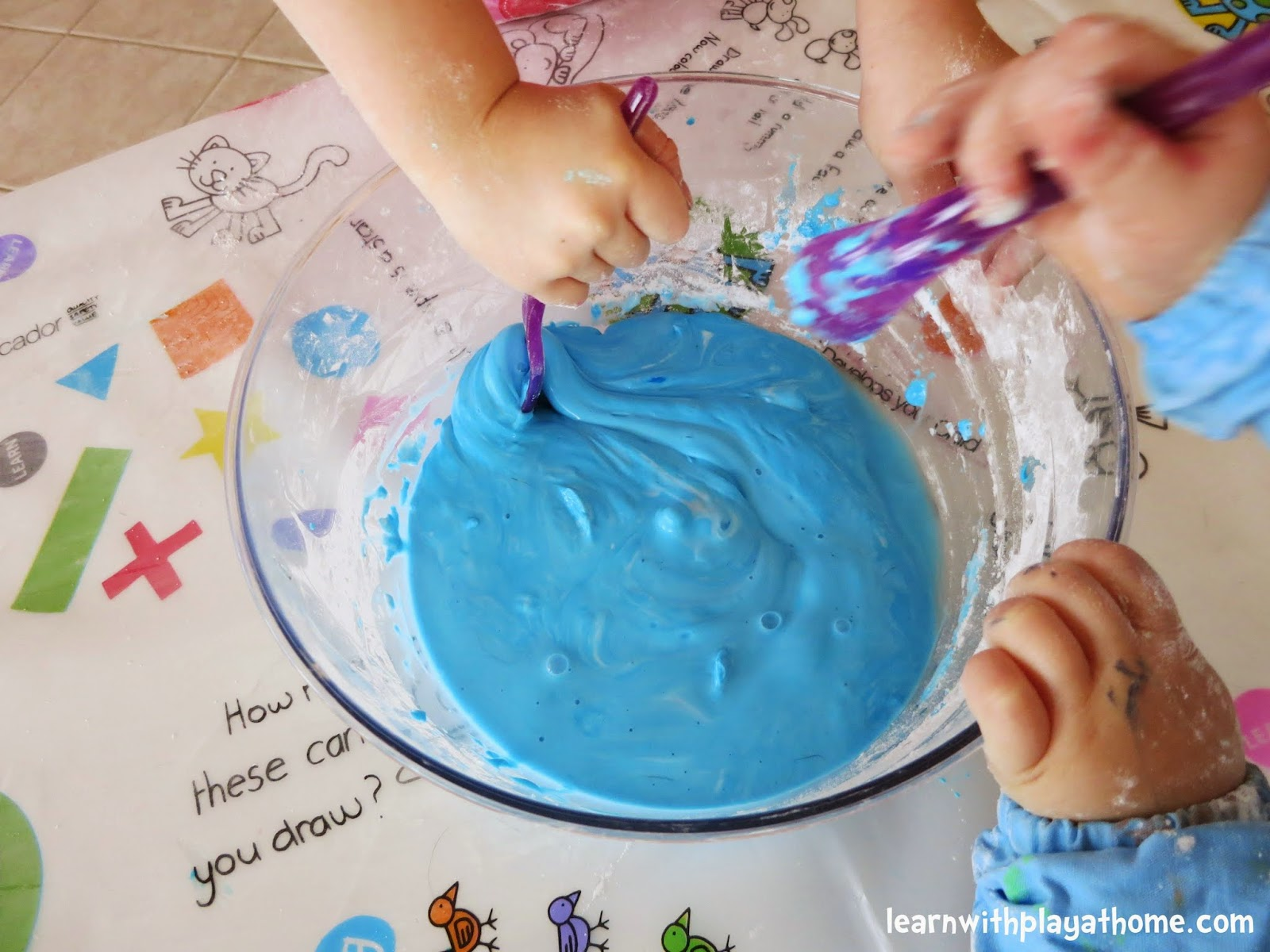 Learn With Play At Home Cornflour Slime How To Make And