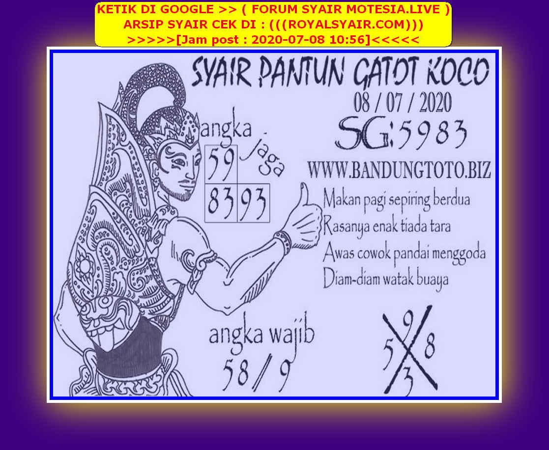 Kode syair Singapore Rabu 8 Juli 2020 133