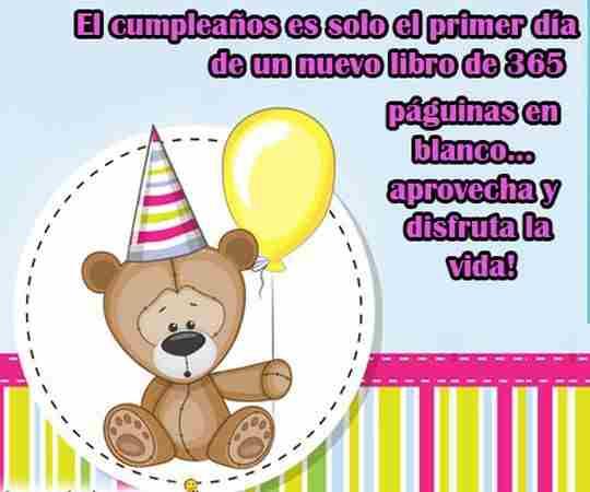 oso de peluche de cumpleaños