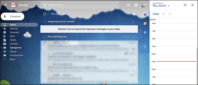 pannello laterale estendibile gmail
