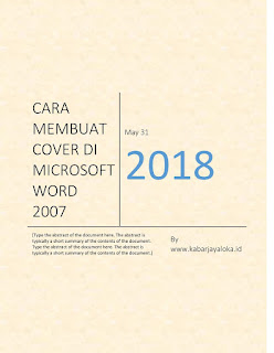 Cara Membuat Cover Halaman Sederhana dan disukai Banyak Orang pada Microsoft Word 2007