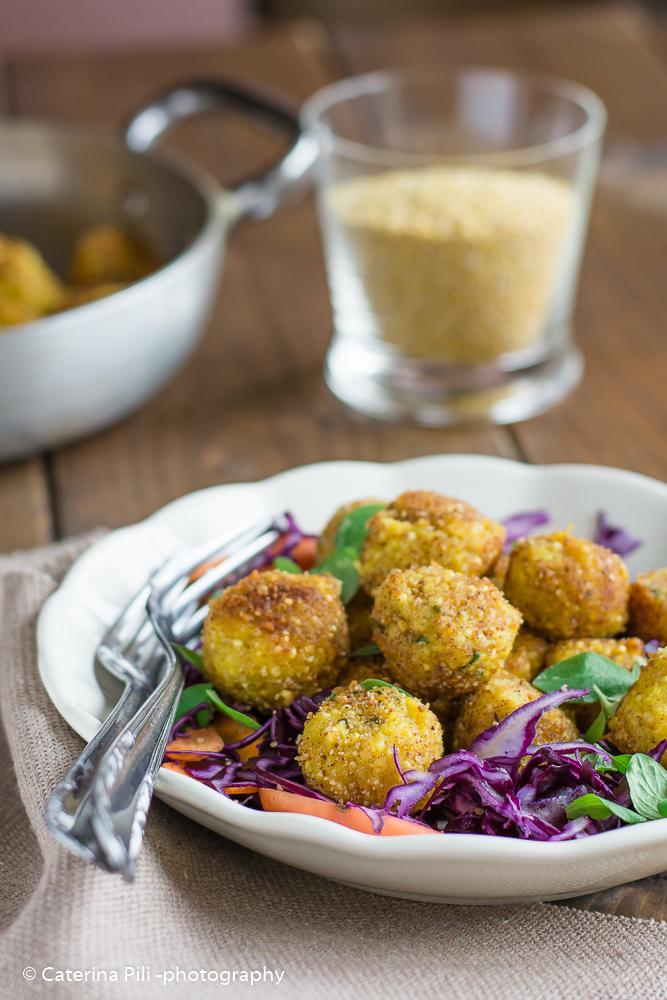 Polpettine di miglio patate e cavolfiore |ricetta senza uova
