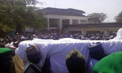 Audu Abubakar burial procession