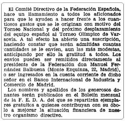 Torneo de las Naciones de Varsovia, La Vanguardia, 21 de junio de 1935